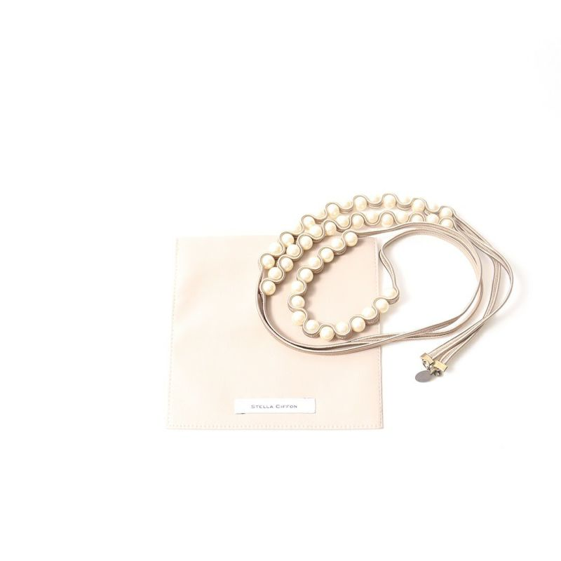 STELLA CIFFON [ステラシフォン] パール×リボン 3連ネックレス [AST-N1] 60 BEIGE