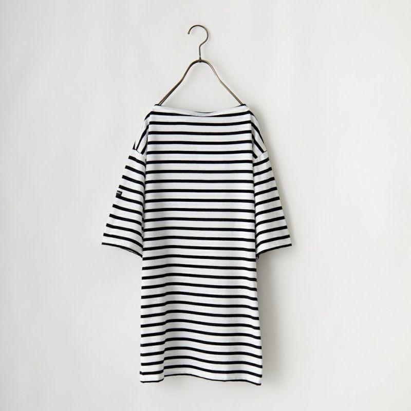 ST.JAMES [セントジェームス] ボーダーTシャツ [PIRIAC] MAR/NEI&&モデル身長:173cm 着用サイズ:5&&