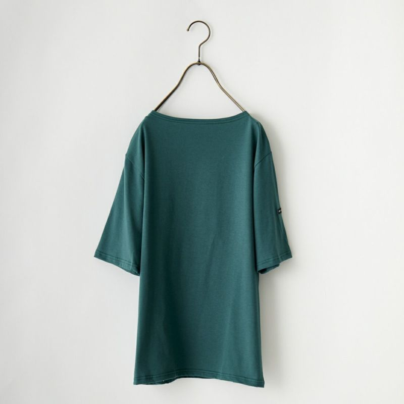 ST.JAMES [セントジェームス] ピリアックソリッドTシャツ [PIRIAC-SD] NOIR&&モデル身長:173cm 着用サイズ:5&&