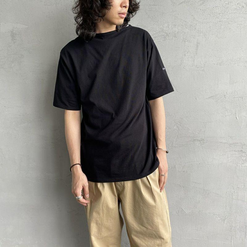 ST.JAMES [セントジェームス] ピリアックソリッドTシャツ [PIRIAC-SD] NOIR&&モデル身長:173cm 着用サイズ:6&&