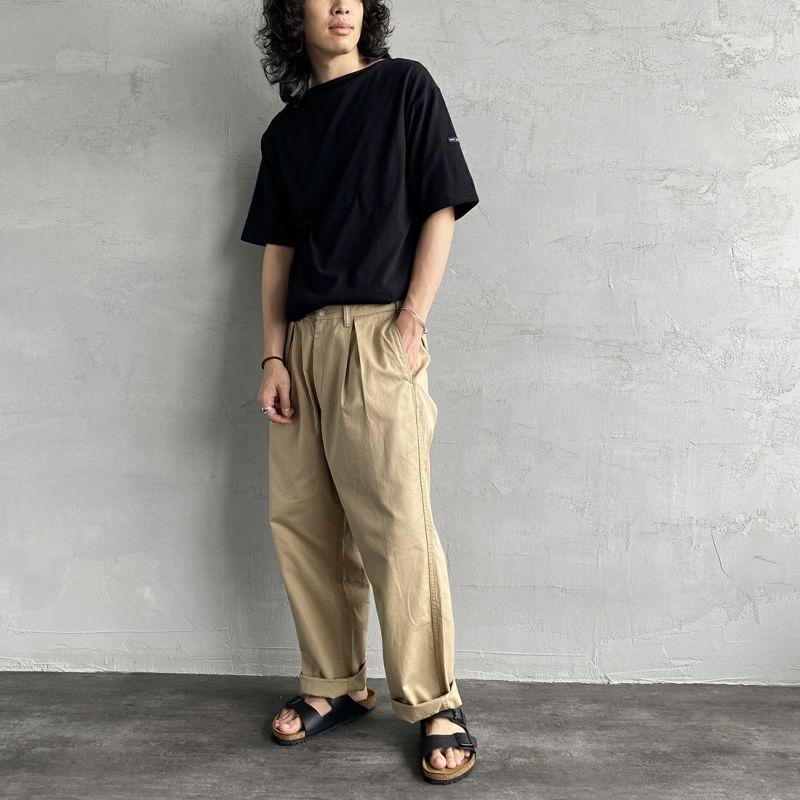 ST.JAMES [セントジェームス] ピリアックソリッドTシャツ [PIRIAC-SD] MACADAM