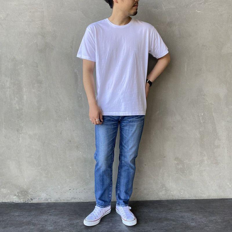 Hanes [ヘインズ] ジャパンフィットクルーネックTシャツ [H5310] 010 ホワイト &&モデル身長:170cm 着用サイズ:L&&