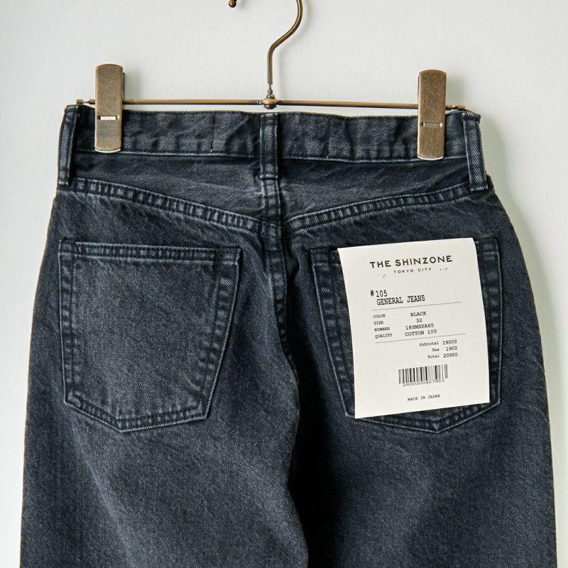 THE SHINZONE [ザ シンゾーン] ジェネラルジーンズ [18SMSPA65] 83 BLUE &&モデル身長:163cm 着用サイズ:36&&