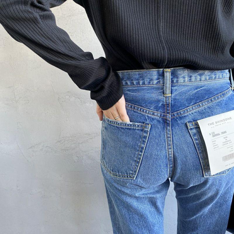 THE SHINZONE [ザ シンゾーン] ジェネラルジーンズ [18SMSPA65] 01 WHITE &&モデル身長:160cm 着用サイズ:34&&