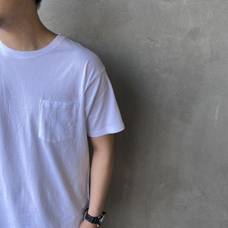 Hanes [ヘインズ] ジャパンフィット クルーネックポケットTシャツ [H5340] 998 アソート &&モデル身長:170cm 着用サイズ:L&&