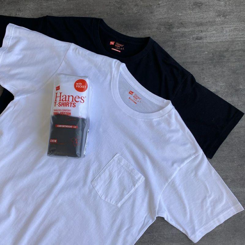 Hanes [ヘインズ] ジャパンフィット クルーネックポケットTシャツ [H5340] 998 アソート