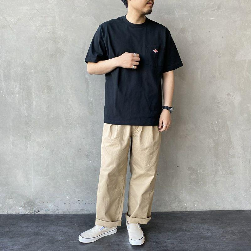 DANTON [ダントン] コットンポケットTシャツ [JD-9041] GRASS &&モデル身長 170cm 着用サイズ 40&&