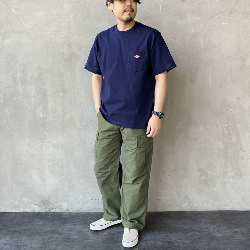 DANTON [ダントン] コットンポケットTシャツ [JD-9041] WHITE