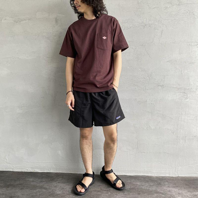 DANTON [ダントン] コットンポケットTシャツ [JD-9041] GREIGE &&モデル身長 170cm 着用サイズ 42&&