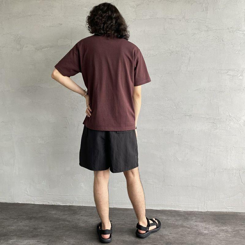 DANTON [ダントン] コットンポケットTシャツ [JD-9041] PURPLE &&モデル身長 170cm 着用サイズ 38&&