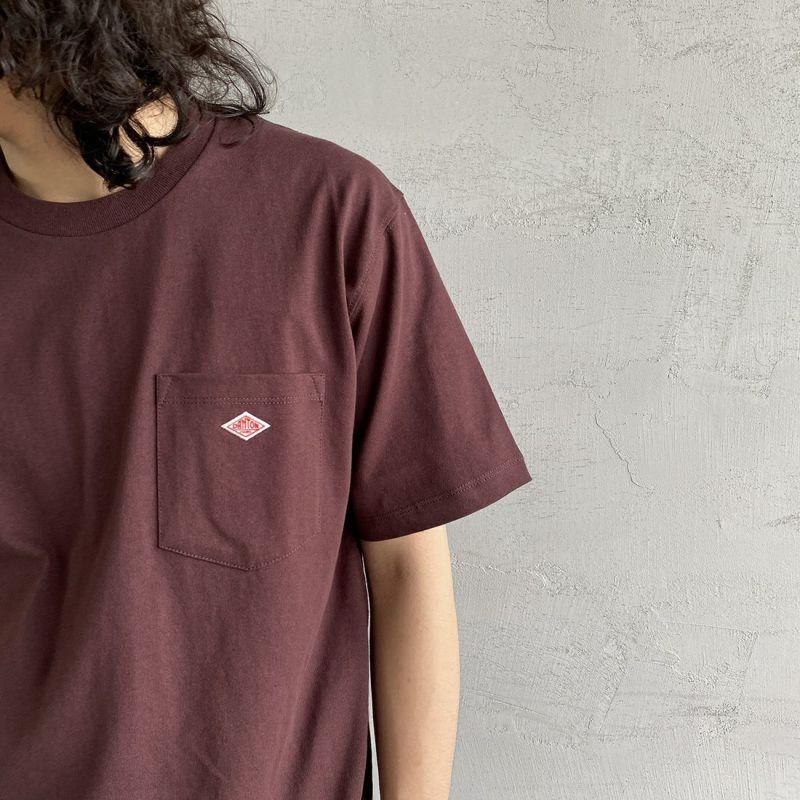 DANTON [ダントン] コットンポケットTシャツ [JD-9041] GREY NAVY &&モデル身長 170cm 着用サイズ 38&&