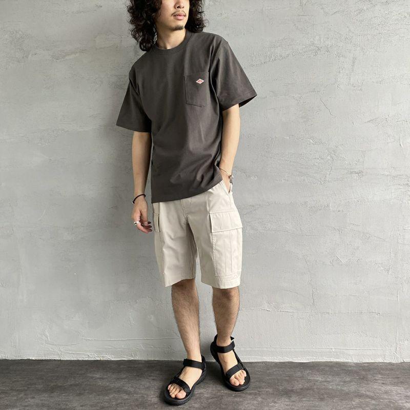 DANTON [ダントン] コットンポケットTシャツ [JD-9041] NEW NAVY &&モデル身長 170cm 着用サイズ 40&&