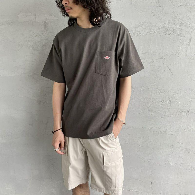 DANTON [ダントン] コットンポケットTシャツ [JD-9041] ORANGE&&モデル身長 170cm 着用サイズ 40&&