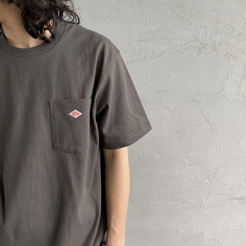 DANTON [ダントン] コットンポケットTシャツ [JD-9041] BEIGE &&モデル身長 170cm 着用サイズ 38&&