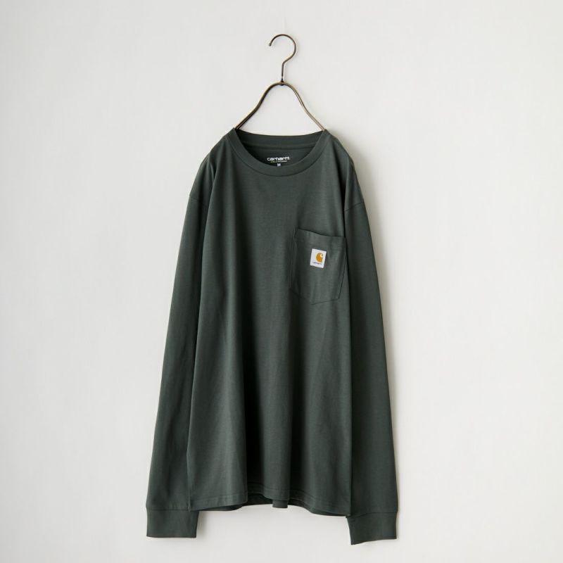 carhartt WIP [カーハートダブリューアイピー] ポケットTシャツ [I022094] 8900 BLACK &&モデル身長:156cm 着用サイズ:M&&