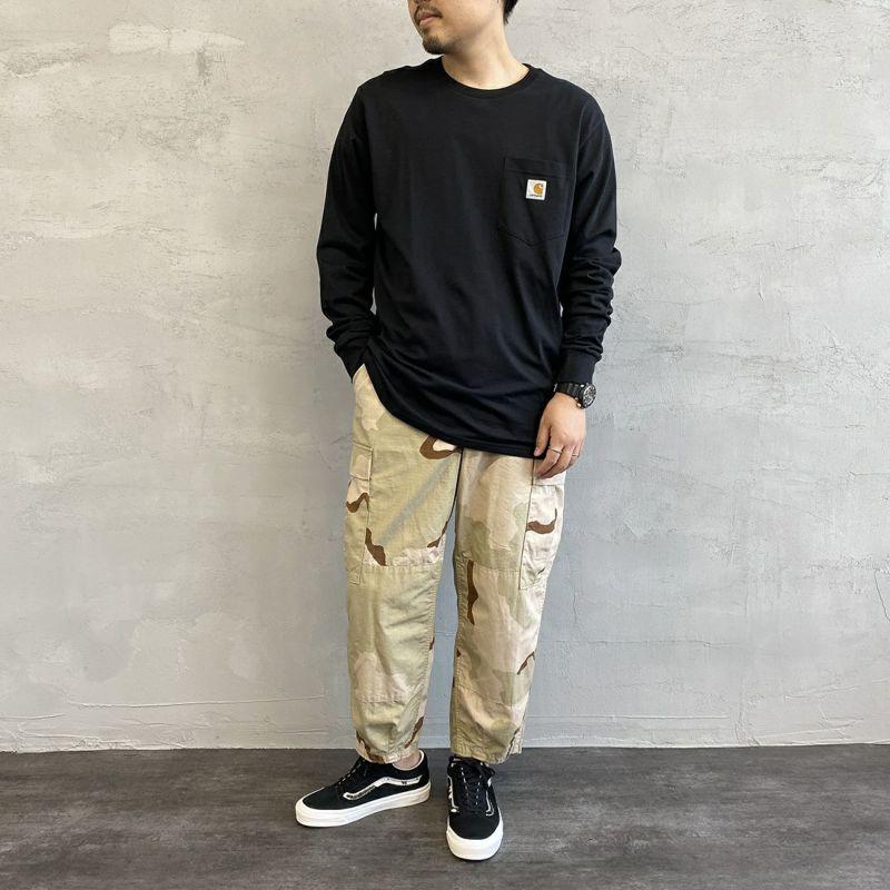 carhartt WIP [カーハートダブリューアイピー] ポケットTシャツ [I022094] 0200 WHITE &&モデル身長:170cm 着用サイズ:L&&