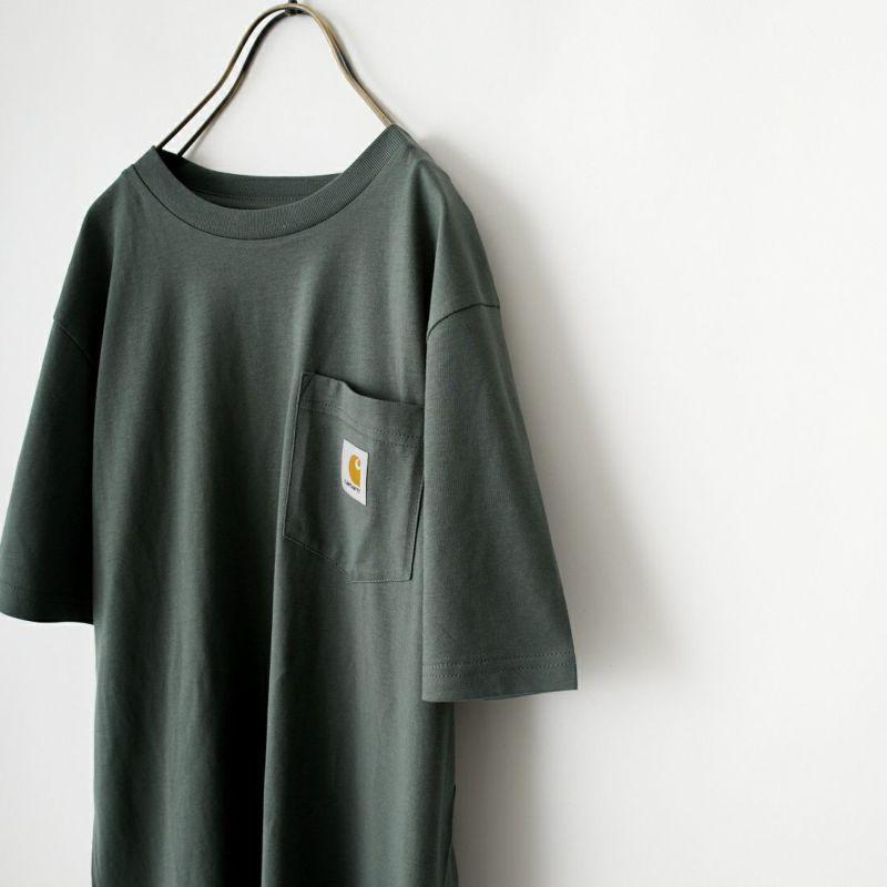 carhartt WIP [カーハートダブリューアイピー] ポケットTシャツ [I022091] 8900 BLACK &&モデル身長:156cm 着用サイズ:S&&