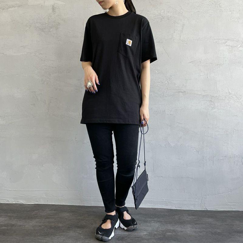 carhartt WIP [カーハートダブリューアイピー] ポケットTシャツ [I022091] 0200 WHITE &&モデル身長:163cm 着用サイズ:S&&
