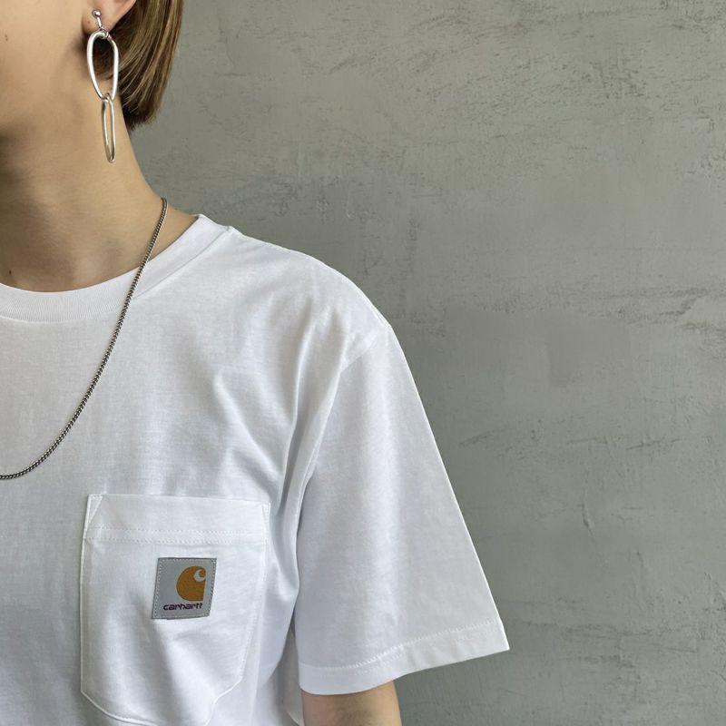 carhartt WIP [カーハートダブリューアイピー] ポケットTシャツ [I022091] 0AE00 MALA &&モデル身長:156cm 着用サイズ:XS&&