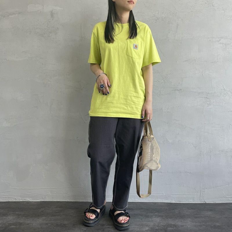 carhartt WIP [カーハートダブリューアイピー] ポケットTシャツ [I022091] WV00 WAVE &&モデル身長:163cm 着用サイズ:S&&