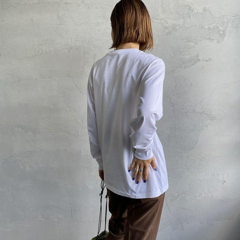 carhartt WIP [カーハートダブリューアイピー] ポケットTシャツ [I022094] 0200 WHITE&&モデル身長:160cm 着用サイズ:XS&&