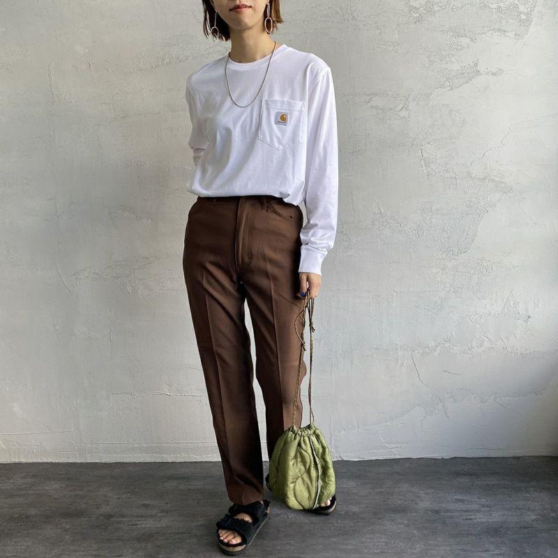 carhartt WIP [カーハートダブリューアイピー] ポケットTシャツ [I022094] 08L00 SHIR&&モデル身長:160cm 着用サイズ:XS&&