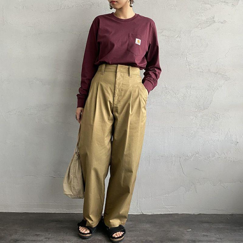 carhartt WIP [カーハートダブリューアイピー] ポケットTシャツ [I022094] 8900 BLACK&&モデル身長:160cm 着用サイズ:S&&