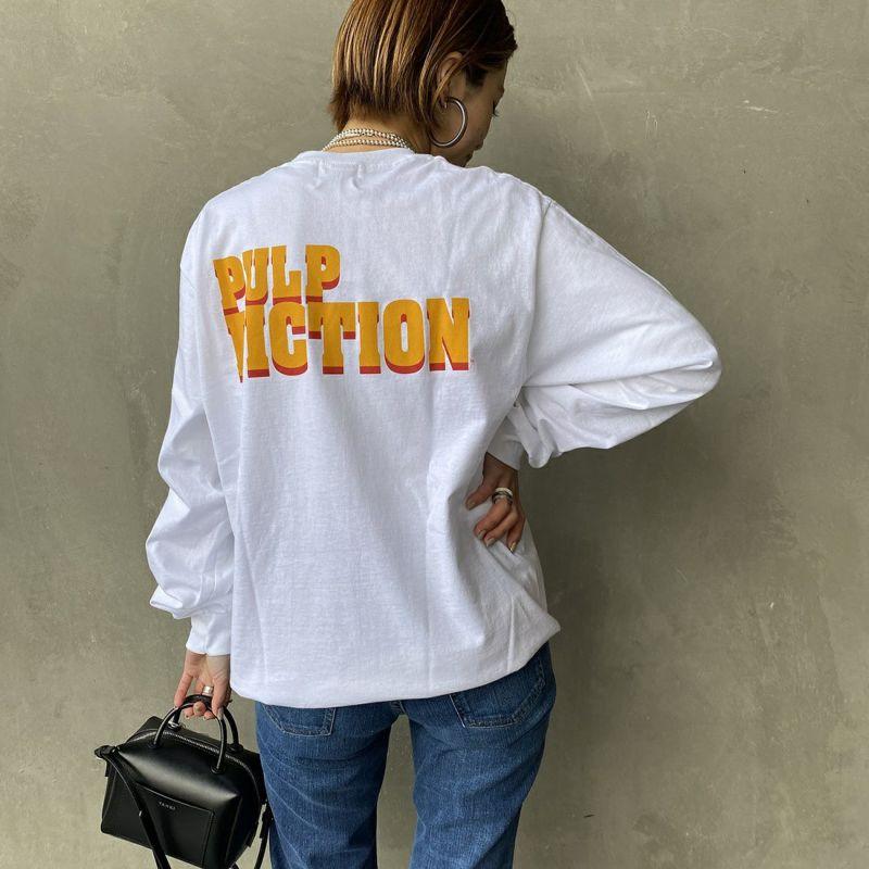 Bantam [バンタム] プリントTシャツ [PULP-07] WHITE &&モデル身長:163cm 着用サイズ:M&&