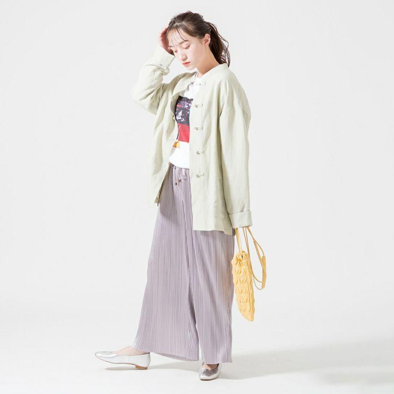 Bantam [バンタム] プリントTシャツ [PULP-07] WHITE &&モデル身長:160cm 着用サイズ:M&&