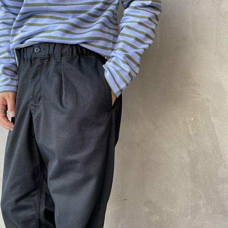 Jeans 61 BLACK&&モデル身長:170cm 着用サイズ:M&&Clothes [ジーンズファクトリークローズ] スタンダードタックテーパードパンツ [JFC-212-020] 68 OFF WHT