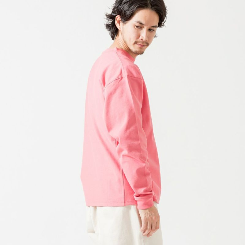 Jeans Factory Clothes [ジーンズファクトリークローズ] ヘビーウェイトリバースTシャツ [2121-419IN] PINK
