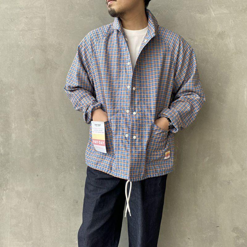 BLU CHECK&&モデル身長:170cm 着用サイズ:L&&