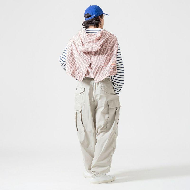 PAY DAY [ペイデイ] 別注 ショールカラーシャツジャケット [PD-21SS-IN-CA001] PNK CHECK &&モデル身長:175cm 着用サイズ:L&&