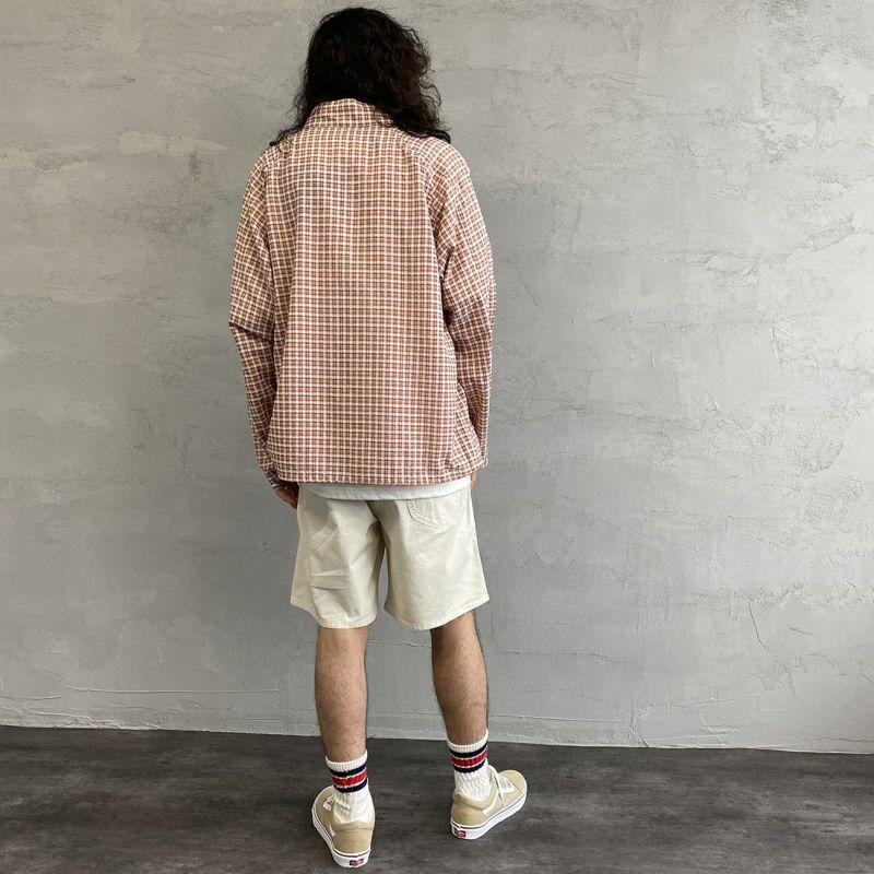 PAY DAY [ペイデイ] 別注 ショールカラーシャツジャケット [PD-21SS-IN-CA001] PNK CHECK &&モデル身長:173cm 着用サイズ:L&&