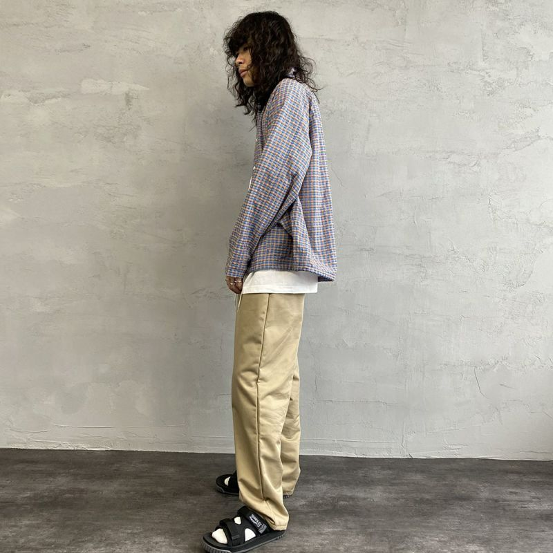 PAY DAY [ペイデイ] 別注 ショールカラーシャツジャケット [PD-21SS-IN-CA001] BLU CHECK &&モデル身長:173cm 着用サイズ:M&&