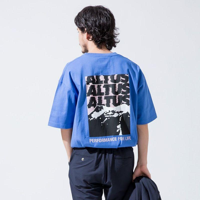 アルタスマウンテンギア 別注 バックグラフィックプリントTシャツ