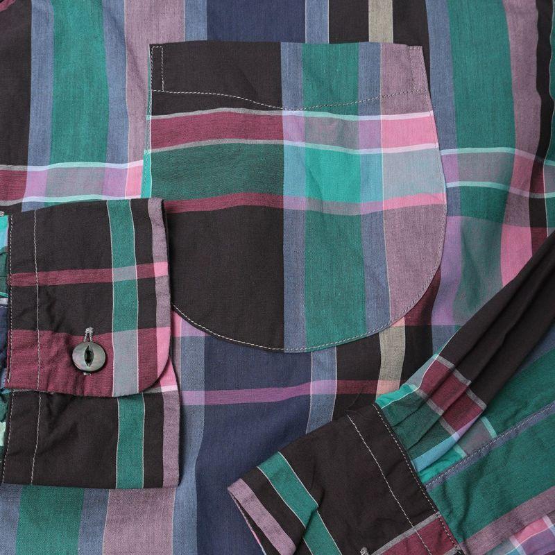 TOWNCRAFT [タウンクラフト] 別注 チェックオープンカラーシャツ [TC20F016-JF] PINK