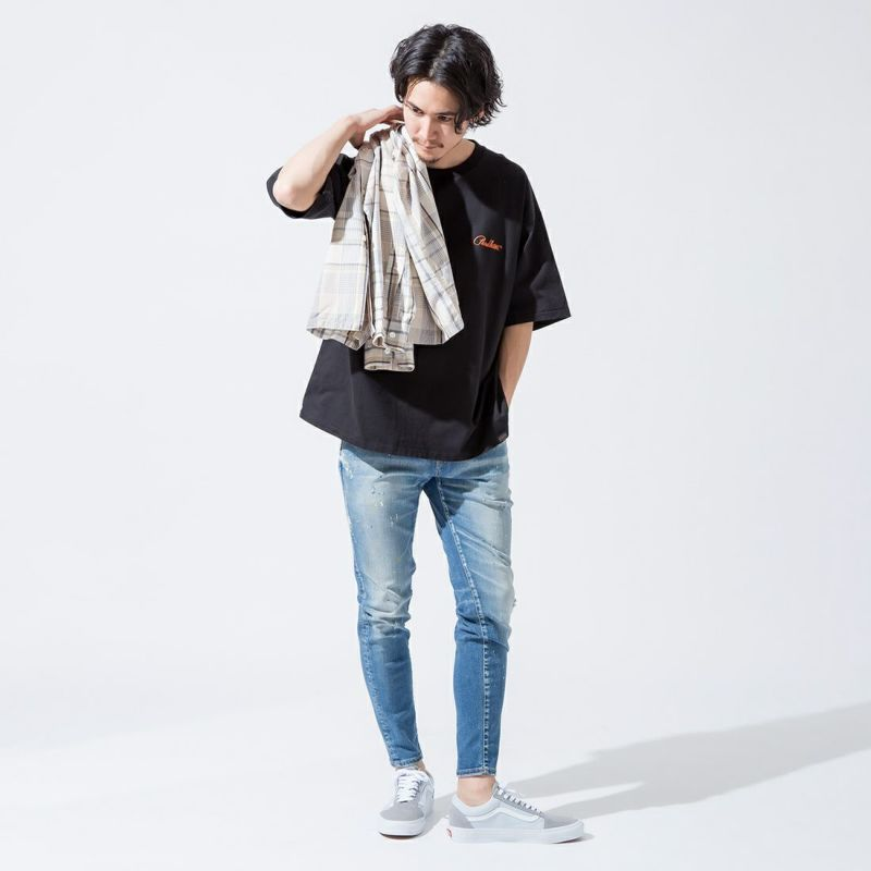 TOWNCRAFT [タウンクラフト] 別注 チェックオープンカラーシャツ [TC20F016-JF] BEIGE