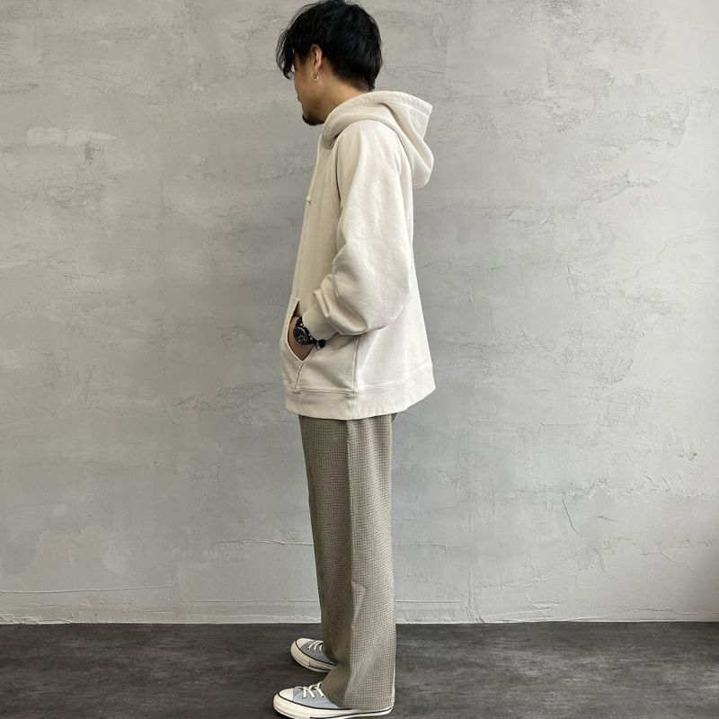 Jeans Factory Clothes [ジーンズファクトリークローズ] ヘビーウェイトスウェットパーカー [2121-418IN] NATURAL &&モデル身長:170cm 着用サイズ:L&&