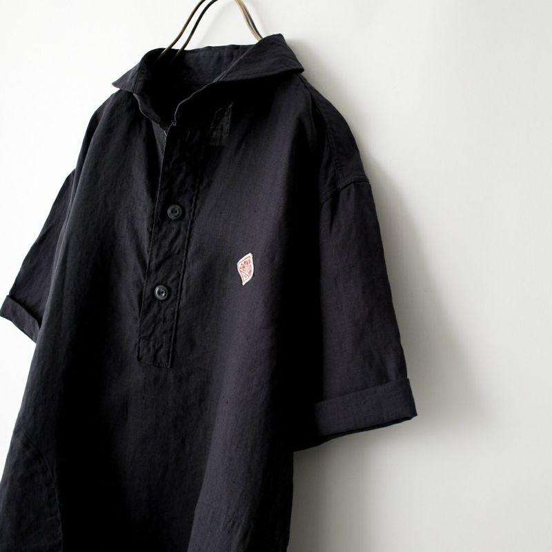 DANTON [ダントン] リネンクロスシャツ [JD-3569KLS] NEW NAVY&&モデル身長:170cm 着用サイズ:40&&