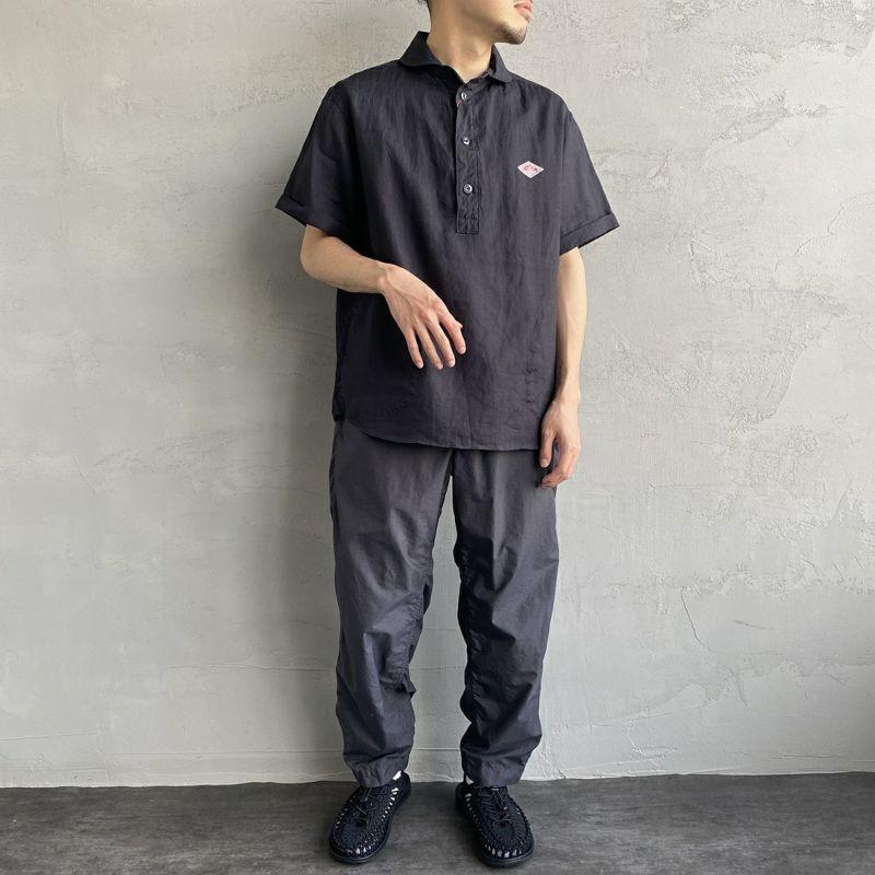 DANTON [ダントン] リネンクロスシャツ [JD-3569KLS] WHITE&&モデル身長:170cm 着用サイズ:40&&