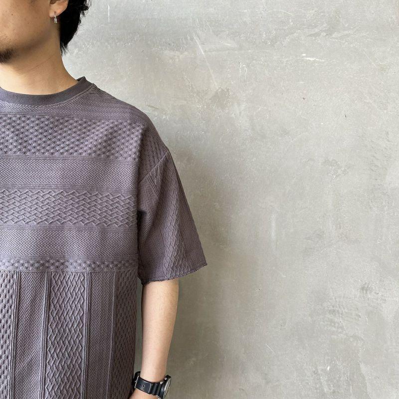 HELLO CALIF [ハローカリフ] ジャガードフリンジTシャツ [HC-212-027] SUMIKURO &&モデル身長:170cm 着用サイズ:M&&