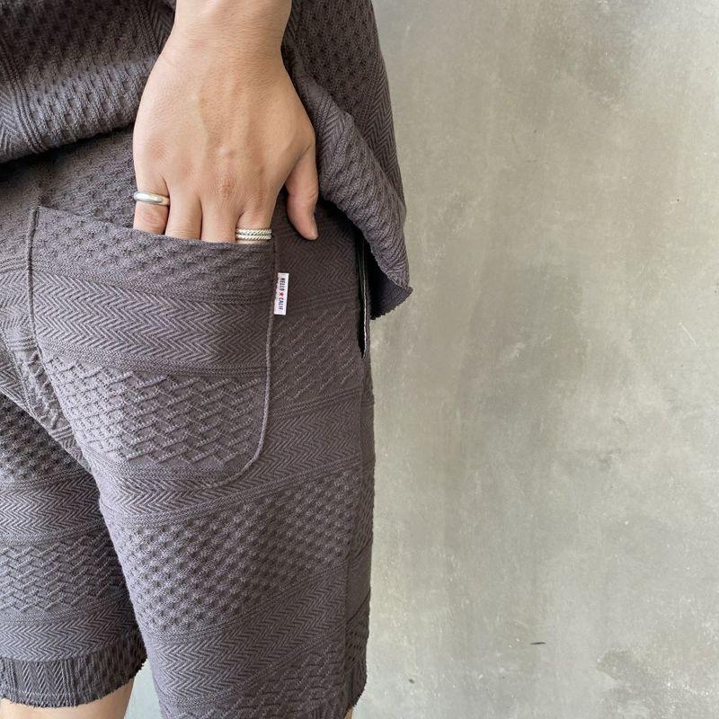 HELLO CALIF [ハローカリフ] ジャガードフリンジショートパンツ [HC-212-028] SUMIKURO &&モデル身長:170cm 着用サイズ:M&&