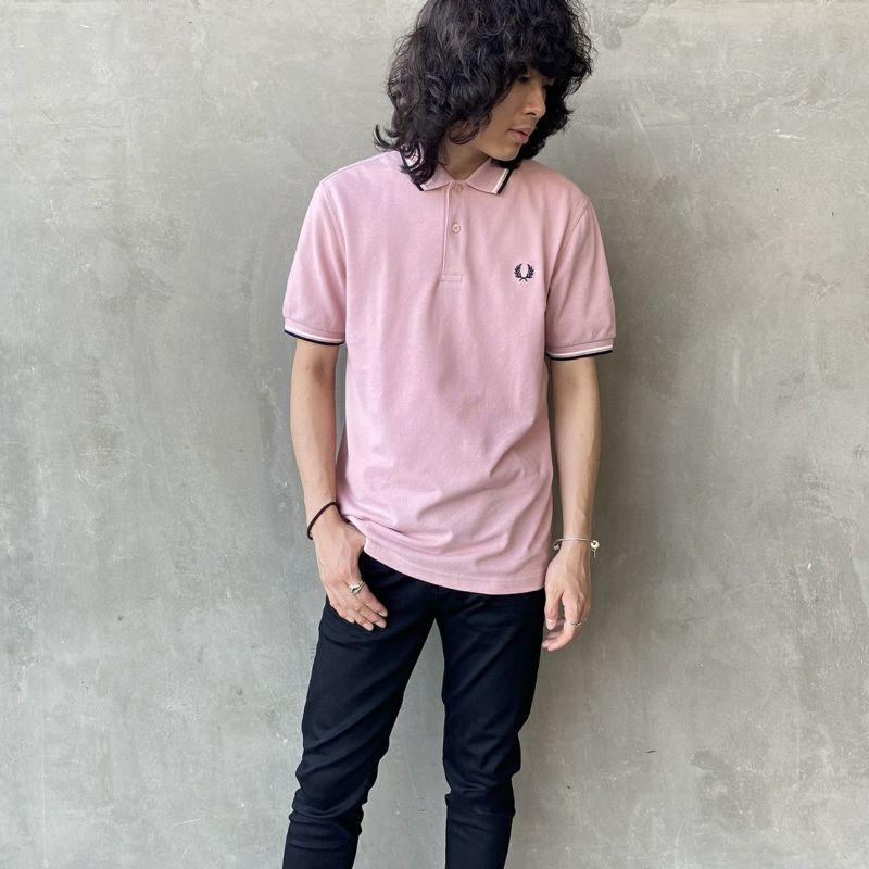 FRED PERRY [フレッドペリー] フレッドペリーシャツ [M3600] A88 SMOKE&&モデル身長:173cm 着用サイズ:L&&