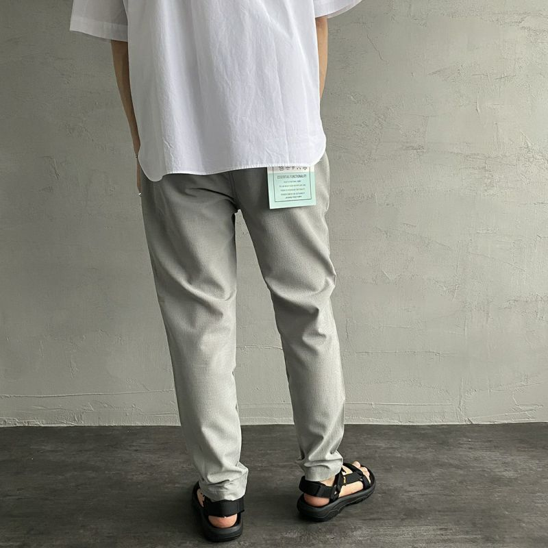 Jeans Factory Clothes [ジーンズファクトリークローズ] ドットエアー1Pイージーアンクルトラウザー [JFC-212-035] 64 GRY&&モデル身長:173cm 着用サイズ:M&&