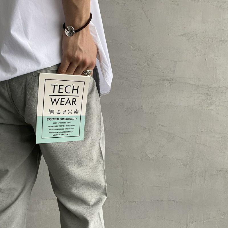 Jeans Factory Clothes [ジーンズファクトリークローズ] ドットエアー1Pイージーアンクルトラウザー [JFC-212-035] 64 GRY