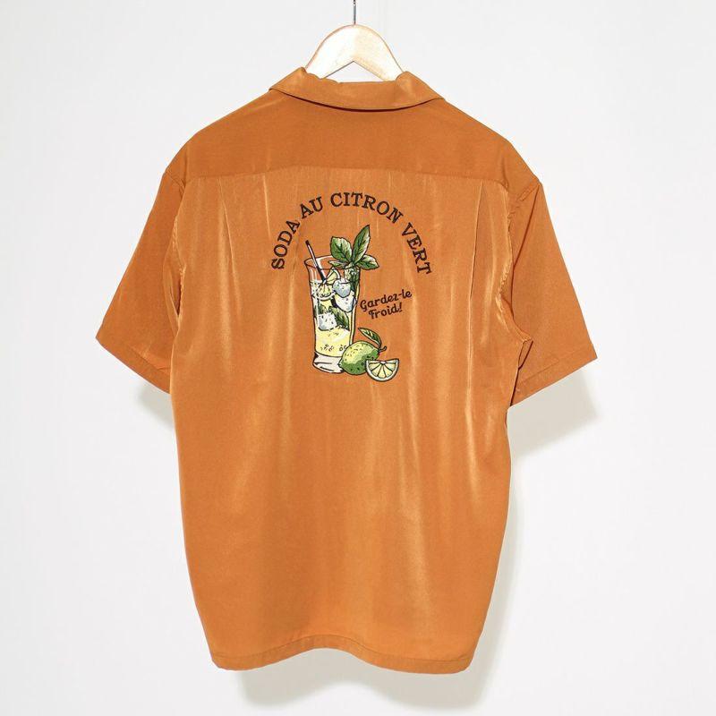 サーティスリーディグリーズ 刺繍オープンカラーシャツ