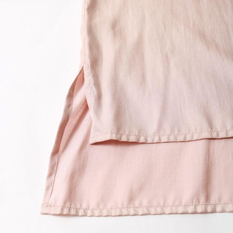 Jf Ready Made [ジェイエフレディメイド] サテンチャイナシャツ [BRV-008] PINK BEIGE