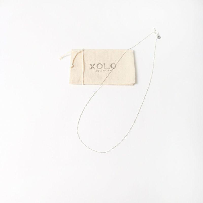 XOLO JEWELRY [ショロジュエリー] THIN LINK ミディアムネックレス [XON004-60] SILVER