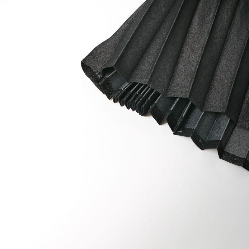Jf Ready Made [ジェイエフレディメイド] ライトデニムプリーツスカート [751499] ブラック